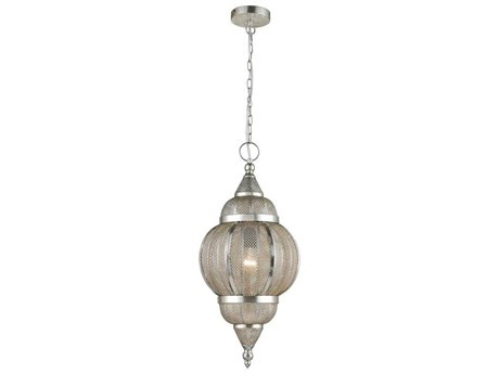 Elk Home Silver One-Light 12'' Wide Pendant