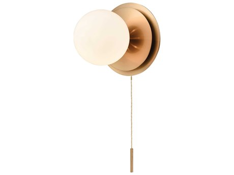 Elk Lighting Picfair Aged Brass / White Glass Wall Sconce