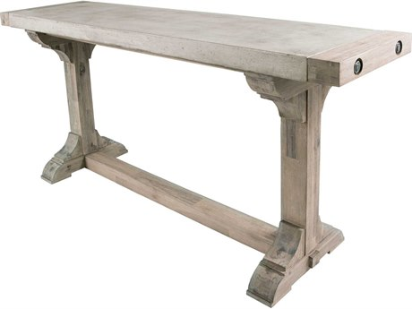 Elk Lighting Pirate 52'' x 16'' Concrete & Wood Waxed Atlantic Counter Height Table EK157020