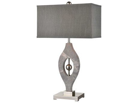 Elk Lighting Psykhe Grey Marble / Polished Nickel Buffet Lamp EKD4112