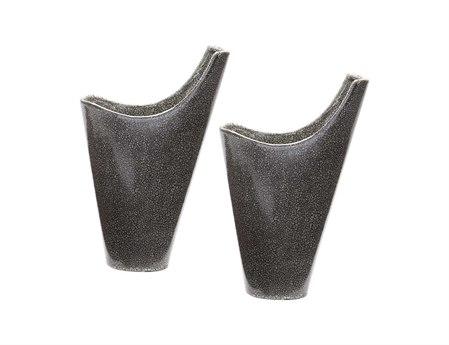 Elk Lighting Grey Reaction Filled Vases (Set of 2)