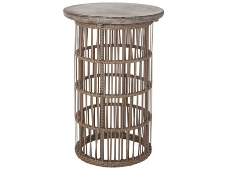 Elk Lighting Refuge Dark Grey Wax & Woodtone 15.8'' Round End Table