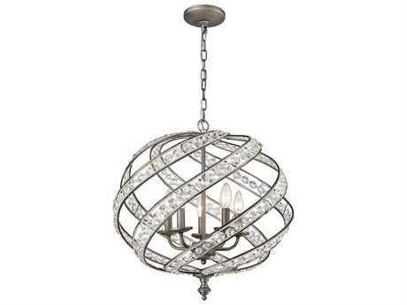 Elk Lighting Renaissance Weathered Zinc Five-Light 21'' Wide Chandelier EK162535