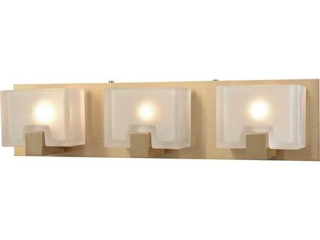 Elk Lighting Ridgecrest Satin Brass Three-Light 21'' Wide Vanity Light