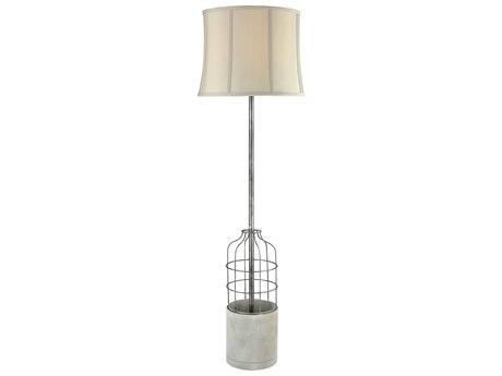 Elk Lighting Rochefort Polished Concrete & Oil Rubbed Bronze Indoor/Outdoor Floor Lamp