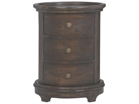 Elk Home Heritage Grey Stain Three-Drawer Nightstand EK7011305