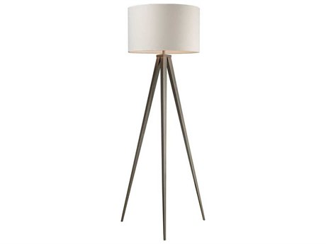Elk Lighting Salford Satin Nickel LED Floor Lamp