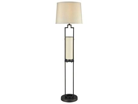 Elk Lighting San Rafael Oil Rubbed Bronze & Milk Glass Indoor/Outdoor Floor Lamp