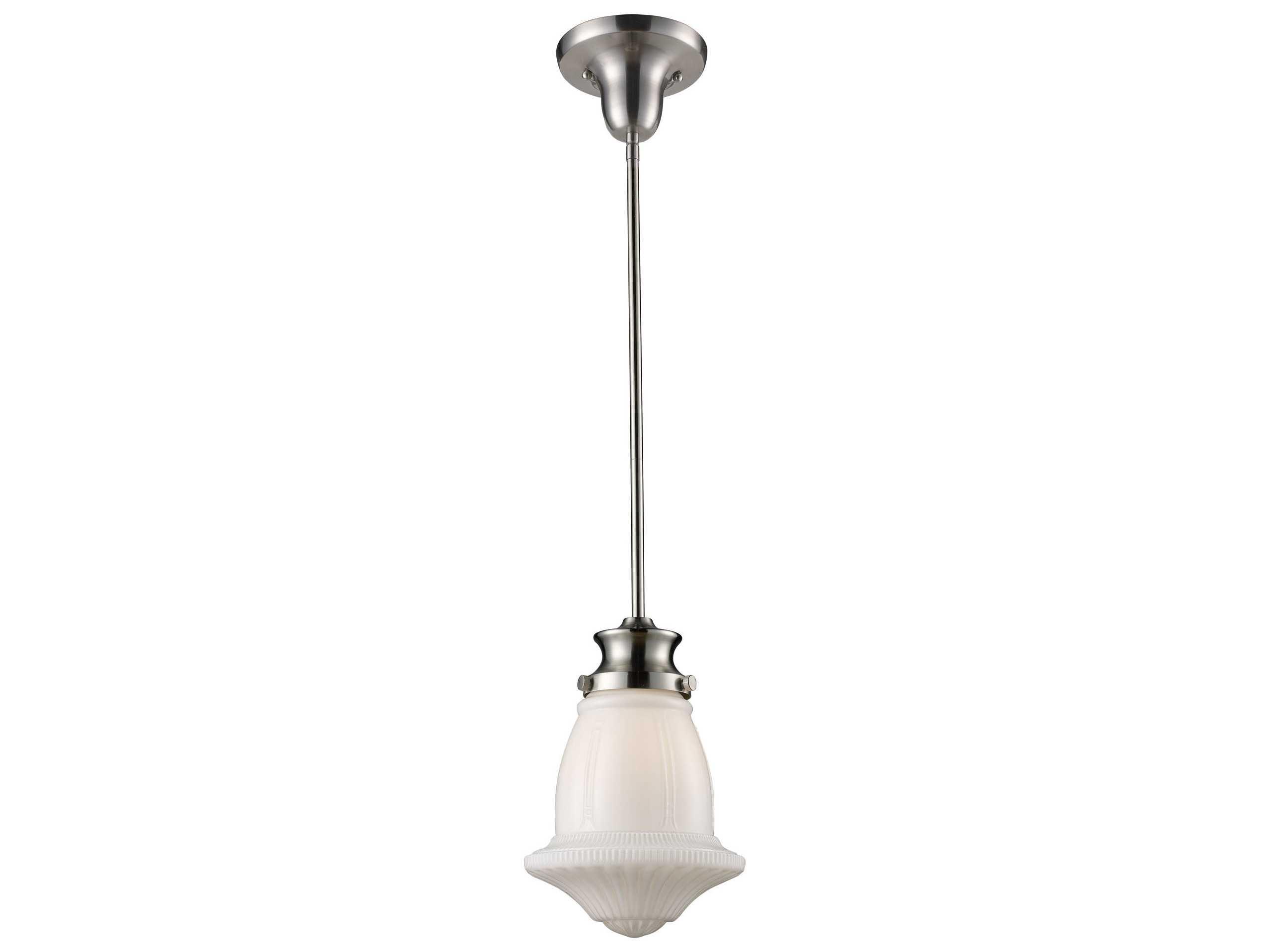 Elk Lighting Schoolhouse Pendants Satin Nickel 8 Wide Mini Pendant Ek690291
