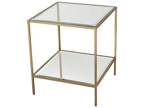 Elk Lighting Scotch Mist Gold Leaf / Clear Glass Mirror 20'' Wide Square End Table