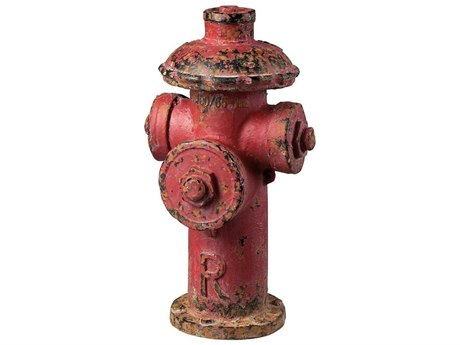 Elk Home Fire Hydrant Red Sculpture