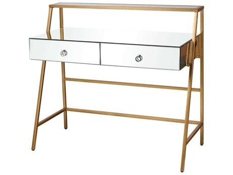 Elk Home Clear / Gold Secretary Desk