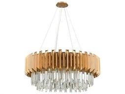 Elk Lighting Seneca Falls Matte Gold 34'' Wide Crystal Medium Chandelier