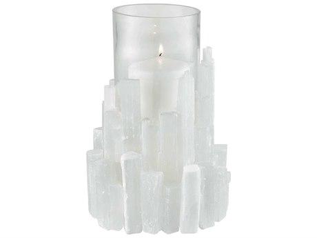 Elk Lighting Shiverpeak Natural Rock Crystal / Clear Glass Candle Holder
