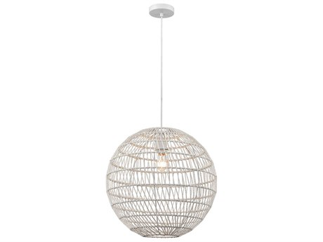 Elk Lighting Simoom White 19'' Wide Pendant