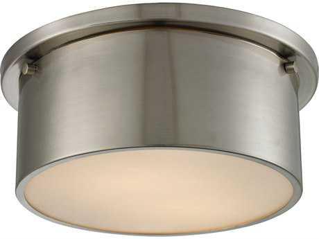 Elk Lighting Simpson Brushed Nickel Two-Light 10'' Wide Flush Mount Light