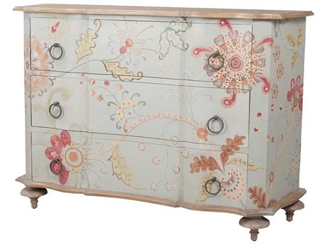Elk Home Manor Griege With Hand-painted Pastel Floral Art Three-Drawer Single Dresser
