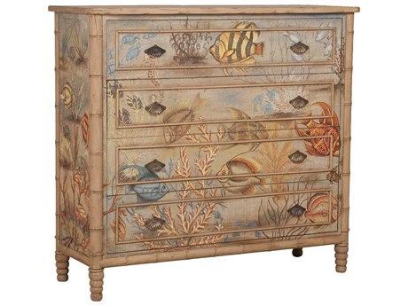 Elk Home Artisan Stain / Hand-painted Four-Drawer Single Dresser