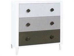 Cool Grey Ombre / White Three-Drawer Single Dresser