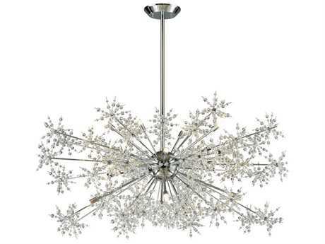 Elk Lighting Snowburst Polished Chrome 20-Light 48'' Wide Chandelier EK1189620