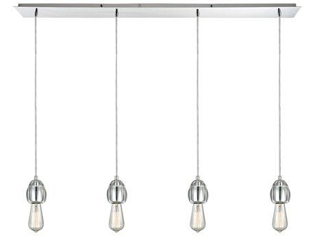 Elk Lighting Socketholder Polished Chrome 46'' Wide Glass Island Light