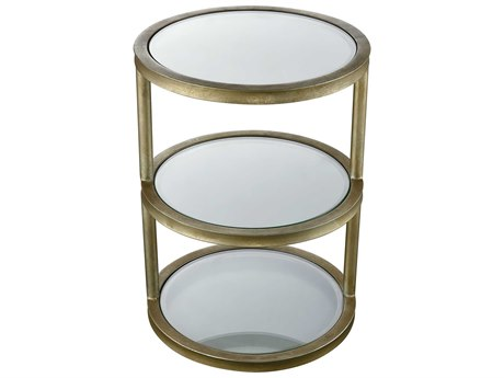 Elk Lighting Stacked Gold Leaf 16'' Round End Table
