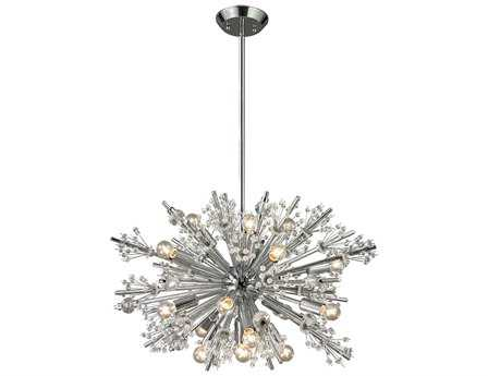 Elk Lighting Starburst Polished Chrome 19-Light 26'' Wide Chandelier EK1175119