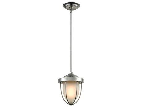 Elk Lighting Sturgis Satin Nickel 7'' Wide Glass Industrial Mini Pendants