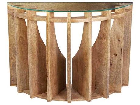 Elk Lighting 41.5 x 15.5 Demilune Wooden Sundial Console Table