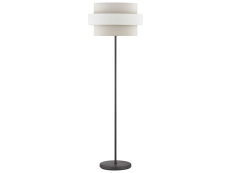 Elk Lighting Sybil Oil Rubbed Bronze Floor Lamp with Oatmeal Shade