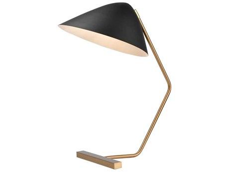 Elk Home Brass / Black One-Light Table Lamp