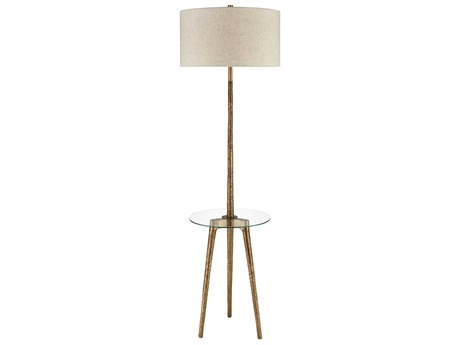 Elk Lighting Timbuktu Aged Gold Glass Floor Lamp