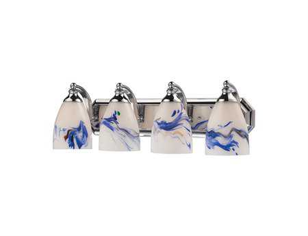 Elk Lighting Vanity Light Polished Chrome & Mountain Glass Four-Light Vanity Light