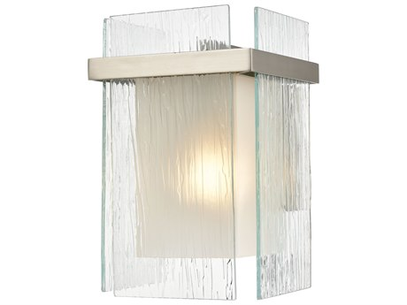 Elk Lighting Vellis Satin Nickel Glass Wall Sconce
