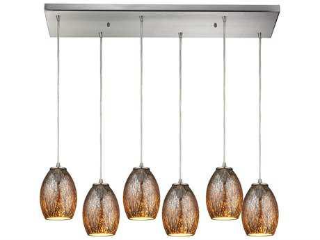 Elk Lighting Venture Satin Nickel Six-Light 30'' Wide Island Light