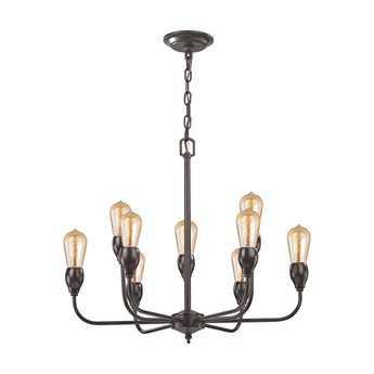 Elk Lighting Vernon Oil Rubbed Bronze Ten-Light 24'' Wide Chandelier