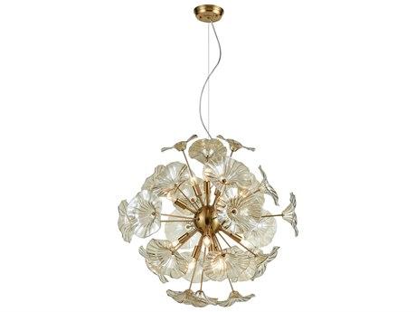 Elk Lighting Vershire Satin Brass 27'' Wide Glass Pendant