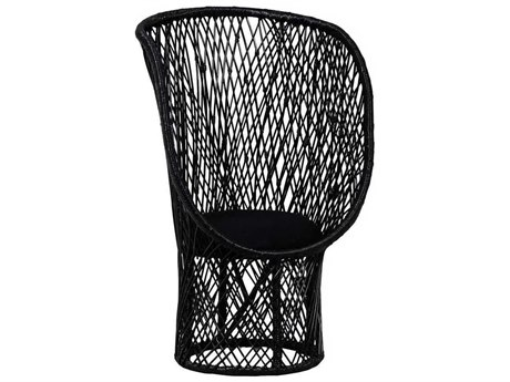 Elk Lighting Victoria High Gloss Black Accent Chair