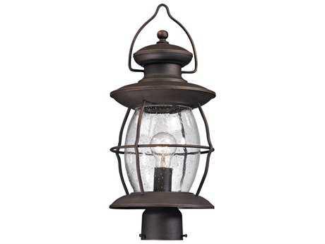 Elk Lighting Village Lantern Weathered Charcoal Outdoor Post Light