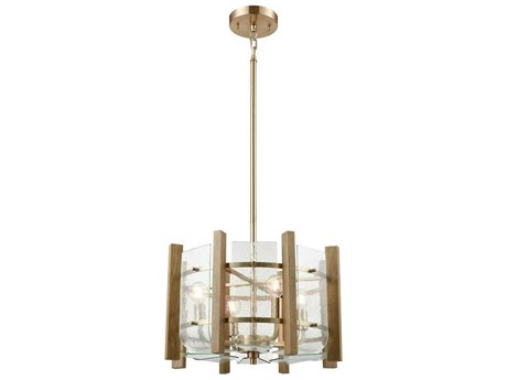 Elk Lighting Vindalia Satin Brass Four-Light 18'' Wide Mini Chandelier