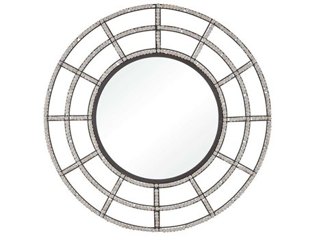 Elk Home Whitewashed Wood / Oil Rubbed Bronze Wall Mirror