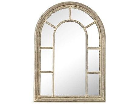 Elk Home Cream Washed Wood Tone Wall Mirror
