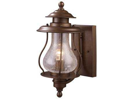 Elk Lighting Wikshire Coffee Bronze 7'' Wide Outdoor Wall Light