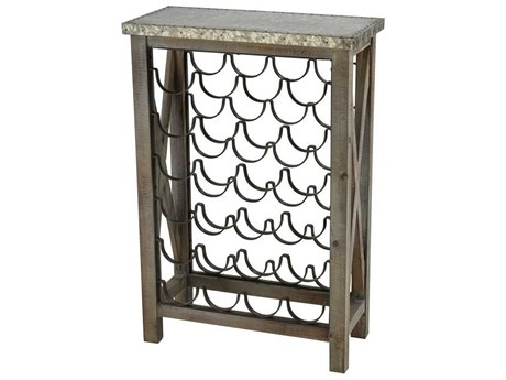 Elk Home Salvaged Grey Oak / Galvanized Steel Wine Rack EK35110539