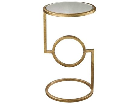 Elk Lighting 12 Round Hurricane Gold End Table
