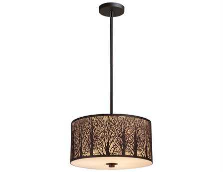 Elk Lighting Woodland Sunrise Aged Bronze Three-Light 16'' Wide Pendant EK310743