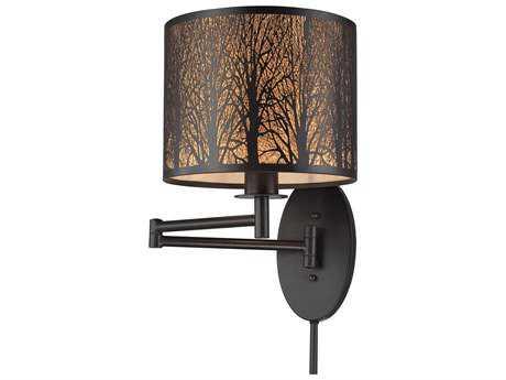 Elk Lighting Woodland Sunrise Oil Rubbed Bronze Swing Arm Light EK310691
