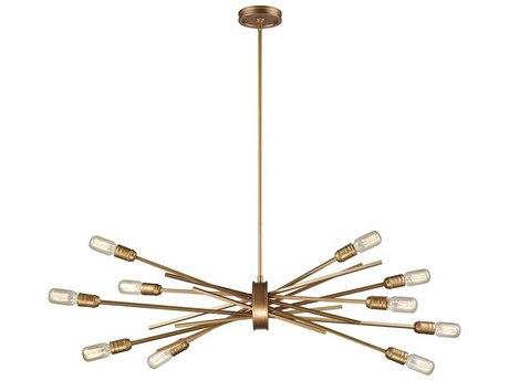 Elk Lighting Xenia Matte Gold Ten-Light 40'' Wide Pendant Light
