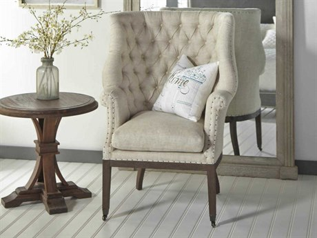 Essentials for Living Bisque / Rustic Java Rolling Accent Chair