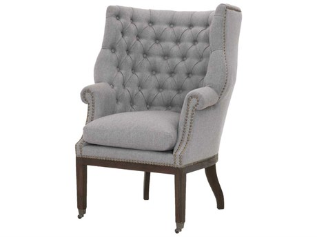 Essentials for Living Earl Gray / Rustic Java Rolling Accent Chair ESL6423UPEGRYGLDRJ
